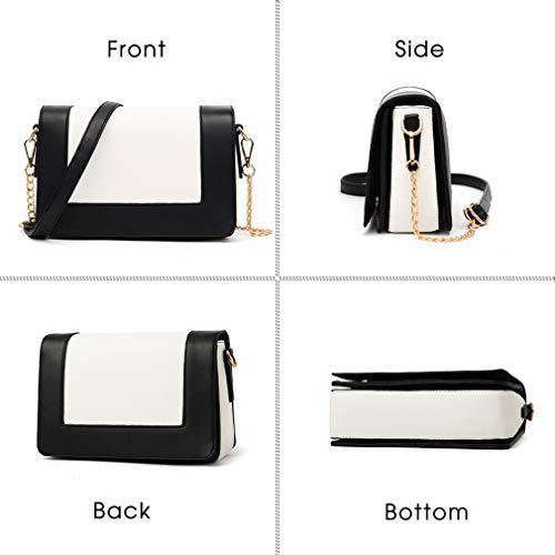 e645e74354a3 Cujubag Ladies Messenger Bag Leather Chain Shoulder Bags Grey 22x15x9cm
