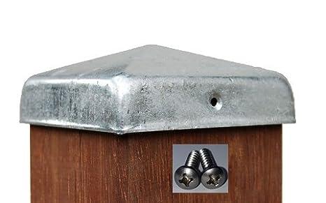 Palo zincato a caldo a forma di piramide tappi per pali da