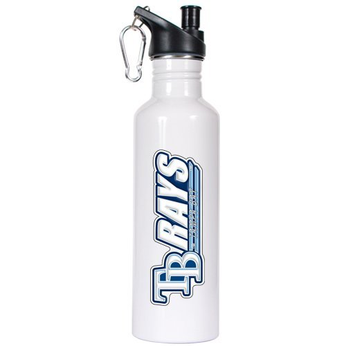 Great American Products Tampa Bay Rays - MLB 26oz Stainless Steel Water Bottle with Pop-up Spout ()