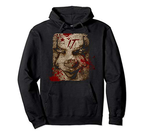 Halloween Costume Clown Hoodie: Scary Blood Penny Wise ()