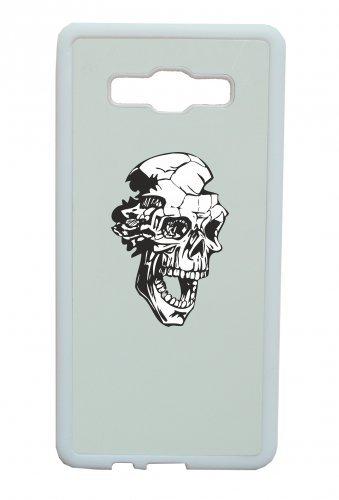 """Smartphone Case Apple IPhone 7+ Plus """"Totenkopf fällt auseinander mit Mund offen leid Totenschädel Gothic Biker Skull Emo Old School"""" Spass- Kult- Motiv Geschenkidee Ostern Weihnachten"""