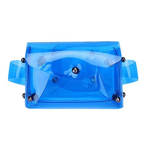 Blue Pack Shoulder Domybest Clear Fanny Waist Women PU Crossbody Mini Hasp Handbag Rivets x64q6SY71