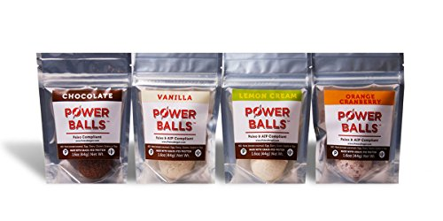 Paleo Angel Power Balls Healthy Paleo Approved Gluten Free AIP Protein Snack Bars (4 Pack)