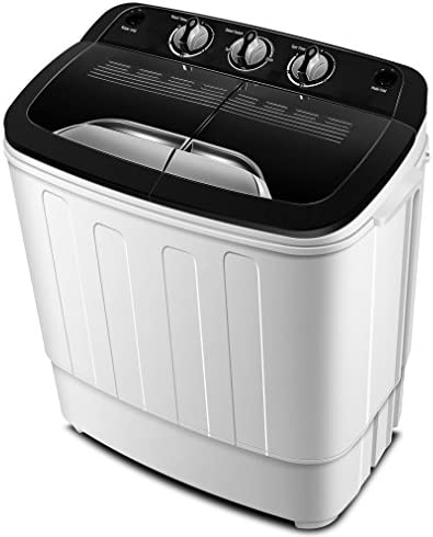 Portable Washing Machine TG23 ? Twin Tub Washer Machine with Wash and Spin Cycle Compartments by ThinkGizmos (Trademark Protected)