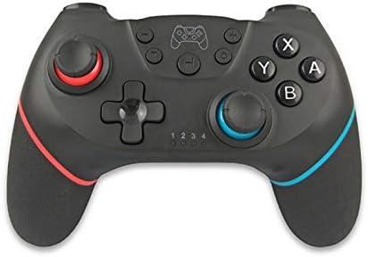 GYHS 6軸ハンドルとスイッチプロNS-スイッチProのゲームコンソールゲームパッドコントローラの任天堂スイッチのEasySMXのBluetoothコントローラ (色 : Red blue)