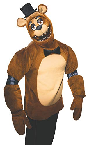 Rubie's Men's Five Nights Adult Freddy Costume, As Shown, Small