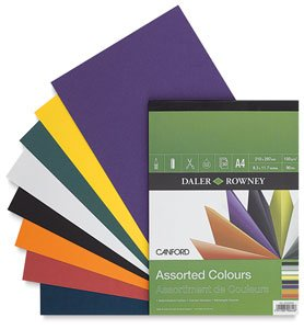 - Daler-Rowney Canford Color Paper Pad - Color: Assorted - Size: 8.25