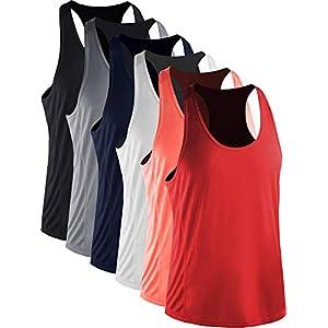 Neleus Men's 3 Pack Workout Tank Top Sleeveless Dri Fit Gym Shirt