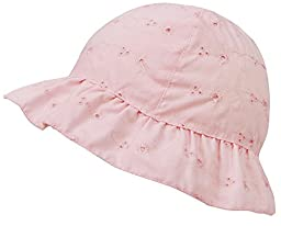 SimpliKids Baby Infant Lovely Floral Embroidered Floppy Wide Brim Sun Hats ,Pink,0-12 Months