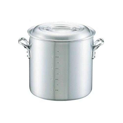 寸胴鍋 日本製 中尾アルミ キングポット寸胴鍋 目盛付 54cm 120.0L アルミ鍋 業務用鍋   B077PKNB83