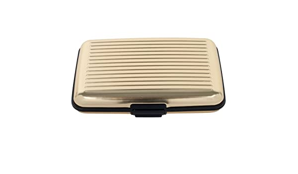 Tarjeta-Guard 82 - 9860 - Cartera de Tarjeta de Crédito de Aluminio Bloqueo RFID Caso, Oro: Amazon.es: Bricolaje y herramientas