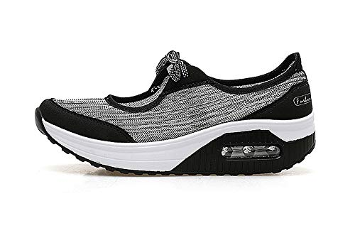 Plataforma Deporte Caminar Adelgazar Mujer Sneakers Zapatos Fitness Negro Transpirable Cuña Aitaobao Mesh Sneaker w8IYqAwg