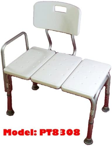 B000SOQ30E MedMobile® Bathtub Transfer Bench/Bath Chair with Back, Wide SEAT, Adjustable SEAT Height, Sure-GRIPED Legs, Lightweight, Durable, Rust-Resistant Shower Bench 412k5L64hiL.
