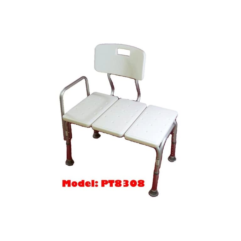 MedMobile® BATHTUB TRANSFER BENCH / BATH CHAIR WITH BACK, WIDE SEAT ...