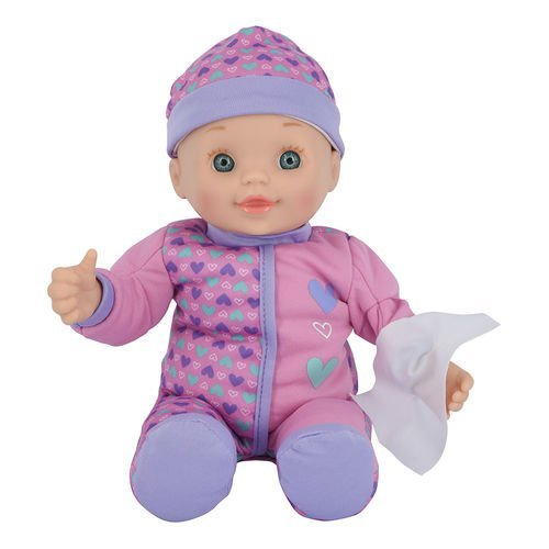 Toys R Us You & Me 12 inch All Better Baby Doll - Blue Eyes with Heart Pattern