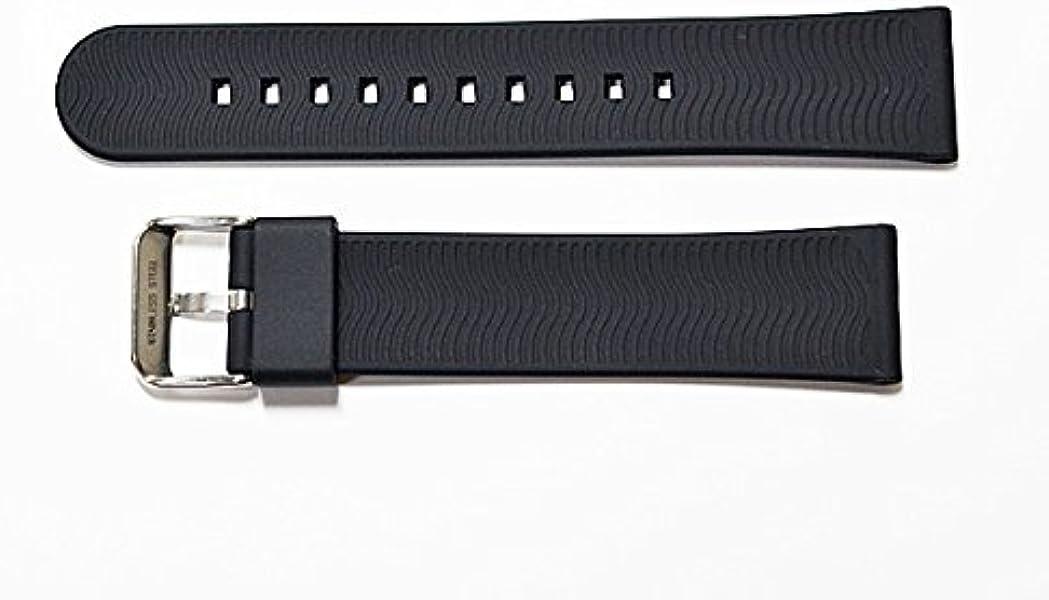 13680163ae Amazon | 時計ベルト 黒 カーボン型押し 18mm/20mm/22mm シリコンラバー ...