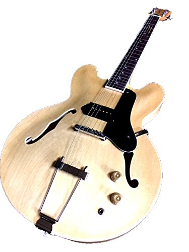 SEMI HOLLOW MAPLE P-90 6 STRING ELECTRIC JAZZ BLUES GUITAR PADDED GIG - String 6 Semi