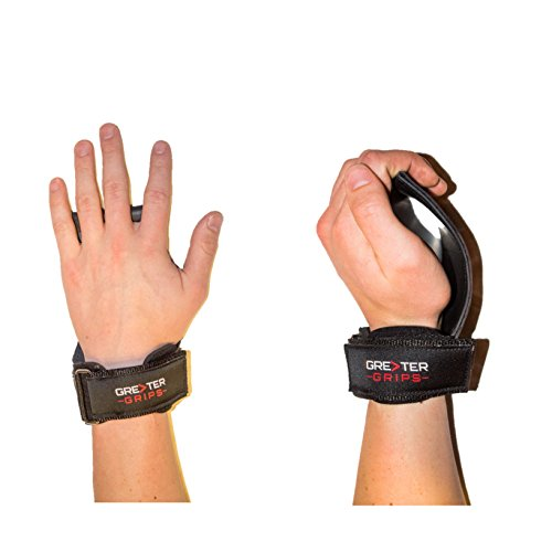 Greater Grips - Weight Lifting Straps - Workout Gloves - Wrist Support (Versa Grips Pro Lifting Straps)