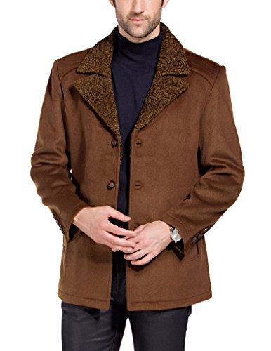 Match Men's Wool Blend Buttoned Top Coat(US S/CN L (Fit 34