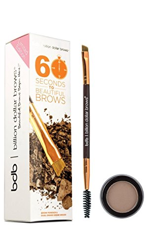 Billion Dollar Brows 2-Piece 60 Seconds To Beautiful Brows Kit – Taupe, Expedites Morning Makeup Routine, All Day Eyebrow Color, Easy Removal, 30 Day Supply