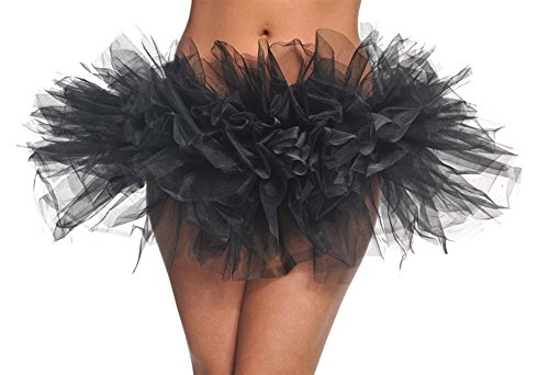 DISC0UNTST0RE Tutu Black Halloween Costume - One Size Fits Most]()