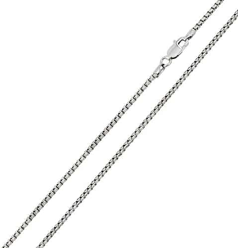CloseoutWarehouse Rhodium Plated Sterling Silver DC Flat Multi Disc Coreana Chain 2mm
