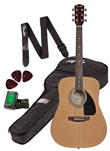 Fender FA-100 Dreadnought Acoustic Guitar PackNatural [並行輸入品] B01K1X3KFW