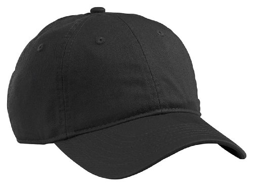 Clip Twill (econscious 100% Organic Cotton Twill Adjustable Baseball Hat (Black))