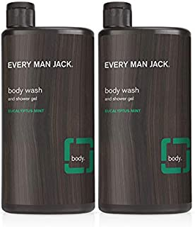 product image for Every Man Jack Men's Body Wash - Eucalyptus Mint | 16.9-ounce Twin Pack - 2 Bottles Included | Naturally Derived, Parabens-free, Pthalate-free, Dye-free, and Certified Cruelty Free