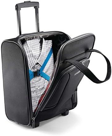 American Tourister 4 Kix Softside Luggage, Black/Grey, Underseater