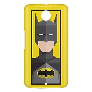 Loud Universe Motorola Nexus 6 3D Wrap Around Batman Triangular Print Cover - Yellow/Black