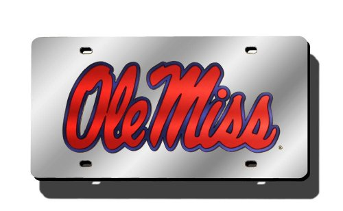 NCAA Mississippi Rebels Laser Cut Auto Tag, - Sporting Goods Rebel