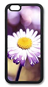 Bokeh flower TPU Silicone Case Cover for iphone 6 4.7inch black