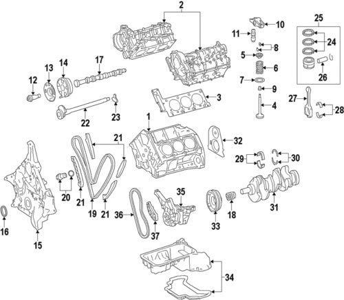 Mercedes-Benz 642 050 00 80, Engine Camshaft Follower 642-050-00-80