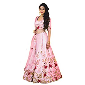 BELOMODA Women's Banglori Satin Silk Lehenga Choli
