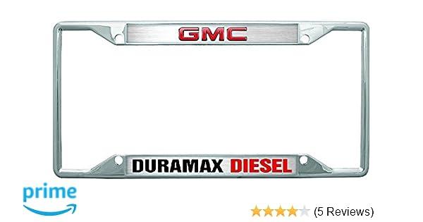 GMC Duramax Diesel Chrome Metal License Plate Frame GM 4 Hole
