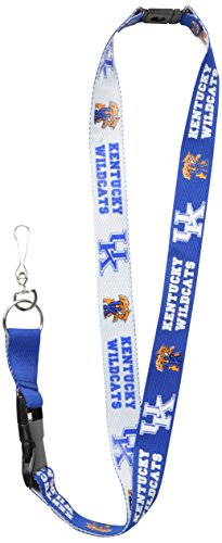 Wildcats Ncaa Lanyard (NCAA Kentucky Wildcats Two-Tone Lanyard, Blue/White, One Size)