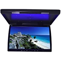Tview T244ir 24 Black TFT Wide Screen Car Flip-down Monitor with Built in Ir Transmitter