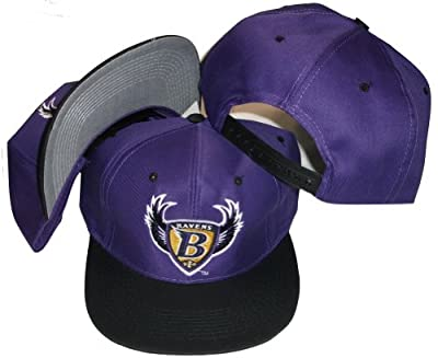 Baltimore Ravens Two Tone Plastic Snapback Adjustable Snap Back Hat / Cap