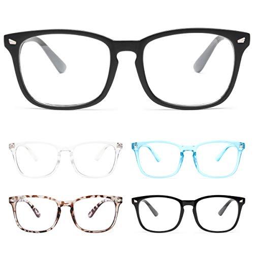 CHEERS 5-Pack Reading Glasses Blue Light Blocking,Computer Readers for Men Women Anti Glare UV Ray Filter Eyeglasses