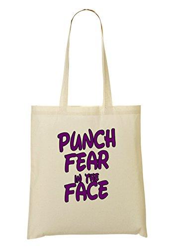 Punch Fear In The Expression Series Be Brave Do Impossible Bolso De Mano Bolsa De La Compra