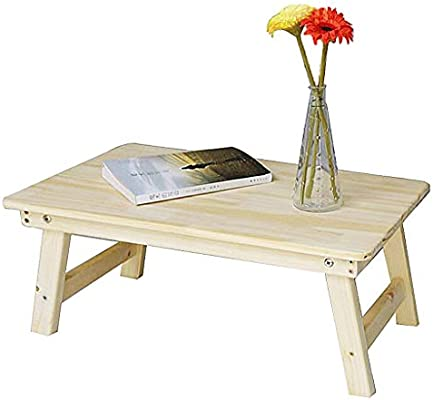 Mesita de noche / mesa plegable Mesa de madera maciza portátil ...