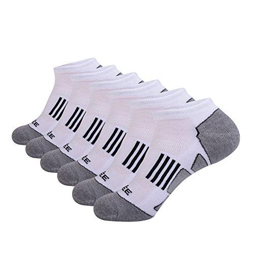 - JOYNÉE Men's 6 Pack Athletic No Show Performance Comfort Cushioned Low Cut Running Socks