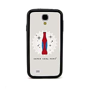 ecenter - Super Soda Pops diseño de la historietaspiderman negro Bumper plastique + cas de TPU couverture for Samsung Galaxy S4 SIV i9500 Teléfono Móvil