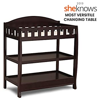 Image of Baby Delta Children Infant Changing Table with Pad, Dark Chocolate