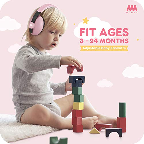 Baby Ear Protection Noise Cancelling Headphones for Babies and Toddlers - Mumba Baby Earmuffs - Ages 3-24+ Months - for Sleeping, Studying, Airplane, Concerts, Movie, Theater, Fireworks by Mumba (Image #1)