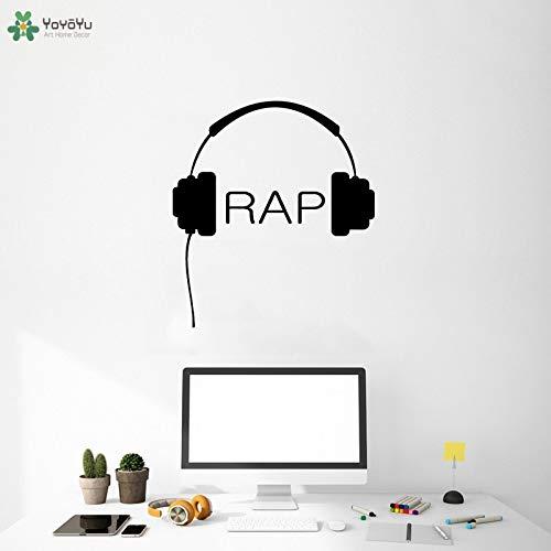 fancjj Tatuajes de Pared Auriculares Música Rap Vinilo Arte ...