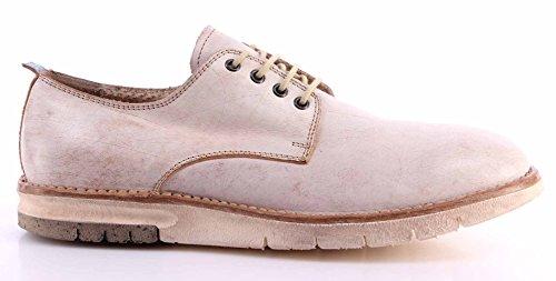 Zapatos Hombres MOMA 11505-YB Vintage Bianco Cuero Blanco Vintage Made Italy New
