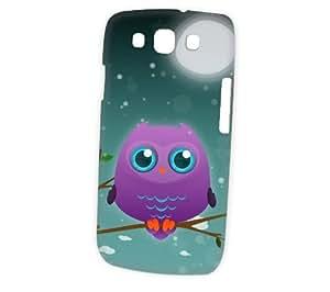 Case Fun Samsung Galaxy S3 (i9300) Case - Vogue Version - 3D Full Wrap - Purple Owl by DevilleART