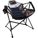 RIO Mossy Oak Swinging Hammock Chair Black Compact And Portable